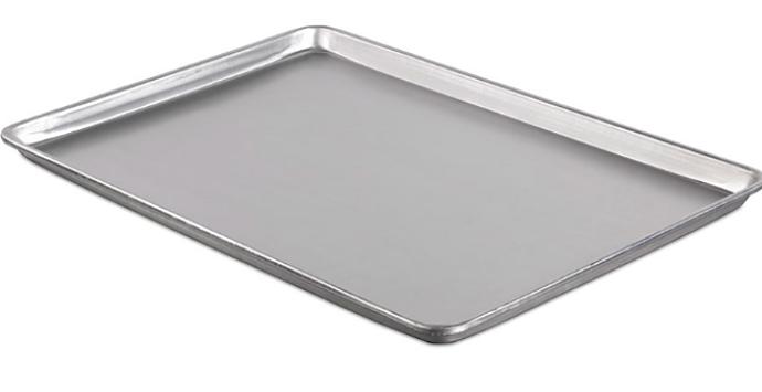 Bandeja hoja de aluminio natural.