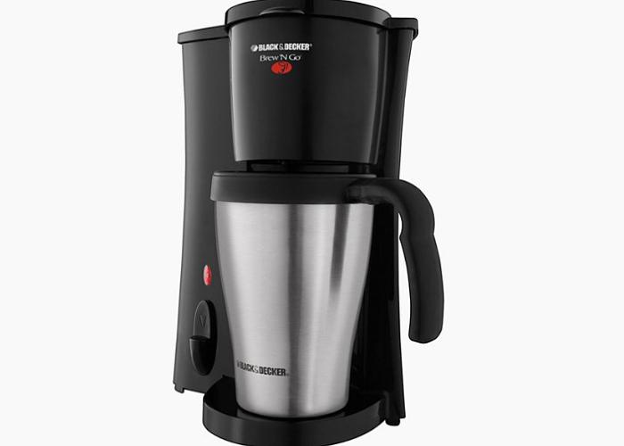Black+Decker Brew 'n Go cafetera personal con taza de viaje