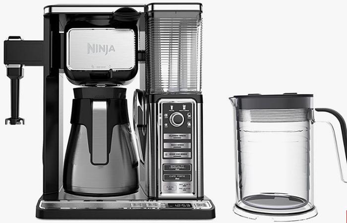 Cafetera Ninja con jarra de vidrio y vaporizador