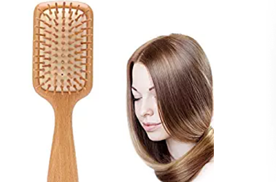 Cepillo de madera para el cabello - cuadrado