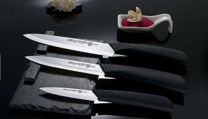 cuchillo de cerámica negro