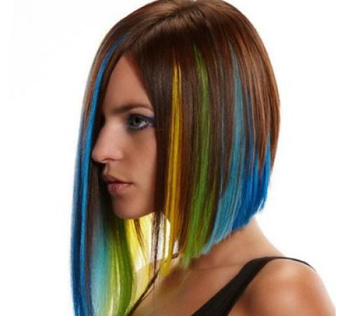 cambio de colores con las extensiones de cabello
