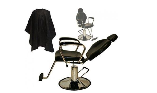 Silla de peluquería multiuso reclinable con elevación hidráulica de belleza LCL