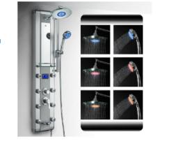 columna de ducha - Panel de ducha LED de aluminio AKDY 5333D