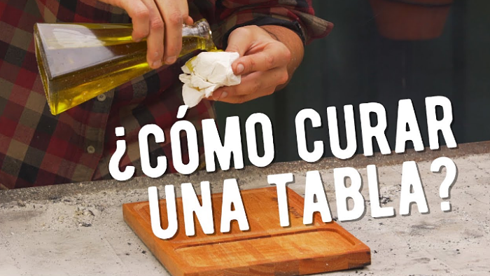 Cómo curar una tabla de madera para picar alimentos