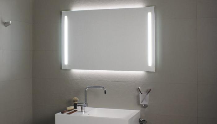 Los Espejos Con Luz Led Aplican Una Estética Moderna En El Baño