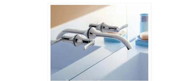 llave para lavamanos: Montaje en pared